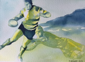 """Rugby"" par Veronique Krieger"