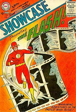 L'apparition de Flash dans les Comics