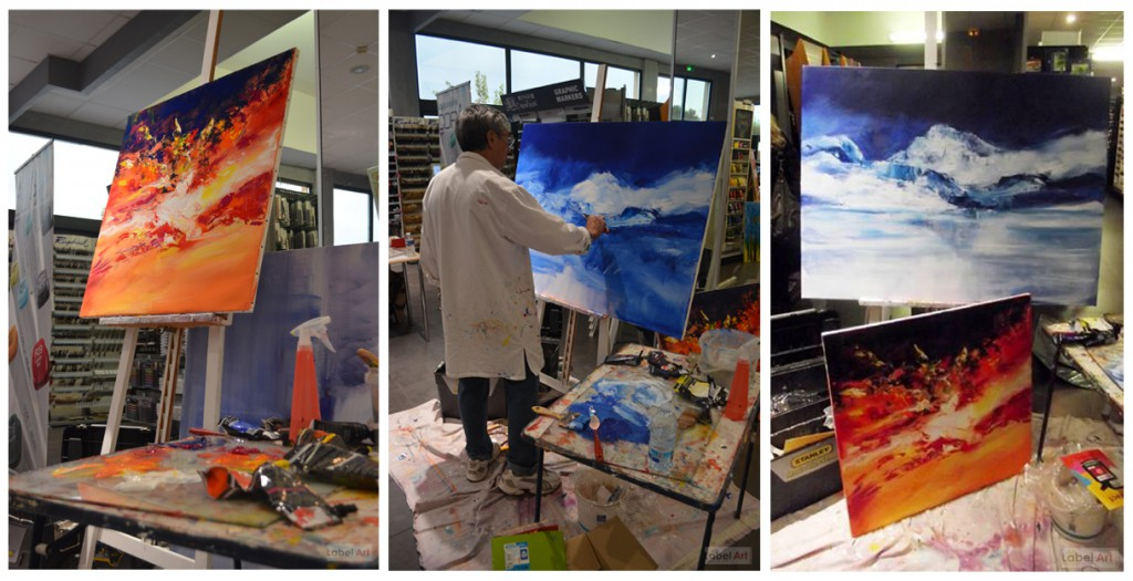 Georges Nguyen à Label Art pour les démonstrations de la peinture Abstract